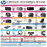 HP Accessories Cases External Storage Dock Projectors Headset Webcam Adapter Charger Battery