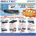 Maxtec Replacement Toner Cartridges HP Canon Epson Brother