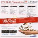 DVD Player DivX P191K P390K H1080 HR 773A 775A
