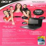 Singtel Acer Aspire 4820T Notebook 10Mbps Broadband 2Mbps Mobile