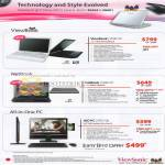 Notebooks ViewBook VNB120 NetBook VNB107 All In One PC AIO VPC100