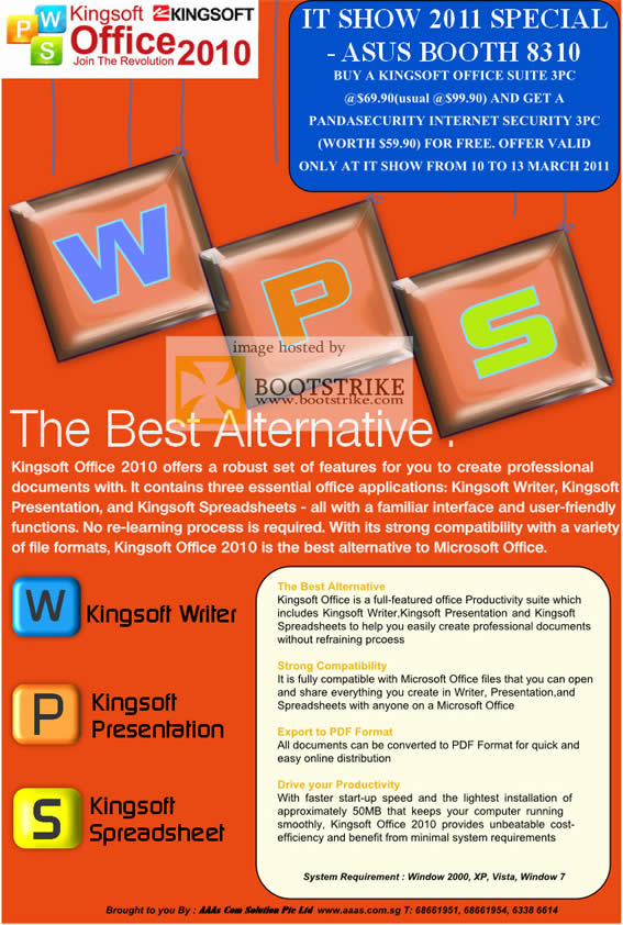 IT Show 2011 price list image brochure of ASUS AAAs Com Kingsoft Office 2010 Suite PC