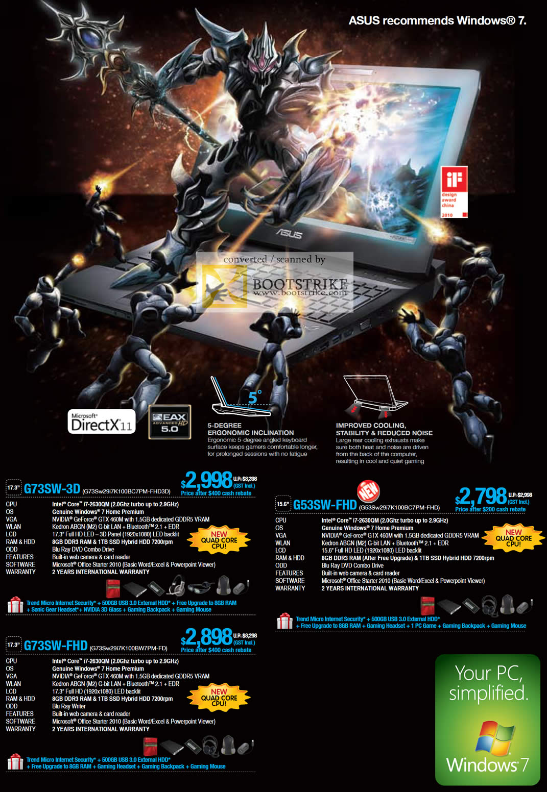 IT Show 2011 price list image brochure of ASUS Notebooks G73SW-3D G53SW-FHD G73SW-FHD