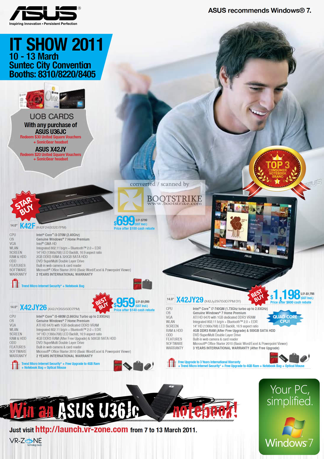 IT Show 2011 price list image brochure of ASUS Notebooks K42F X42JY26 X42JY29