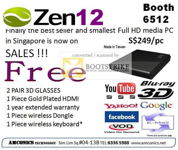 IT Show 2011 price list image brochure of Amconics Zen12 Media Player 3D