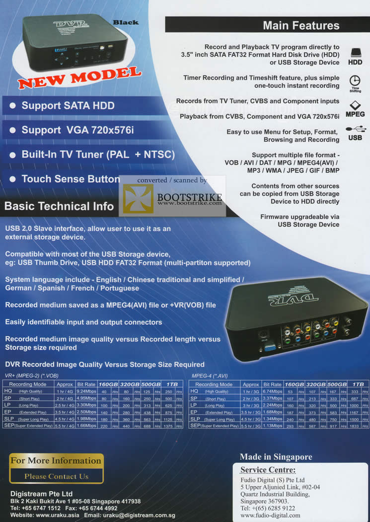IT Show 2011 price list image brochure of Bell Systems Iraku DVR All In 1 Device Digital Video Recorder NV-812 Features Technical Info