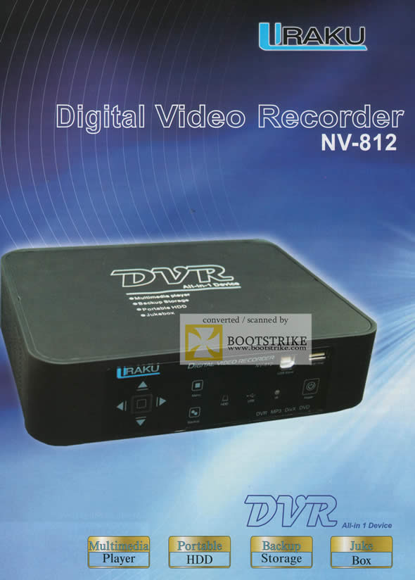 IT Show 2011 price list image brochure of Bell Systems Iraku DVR All In 1 Device Digital Video Recorder NV-812
