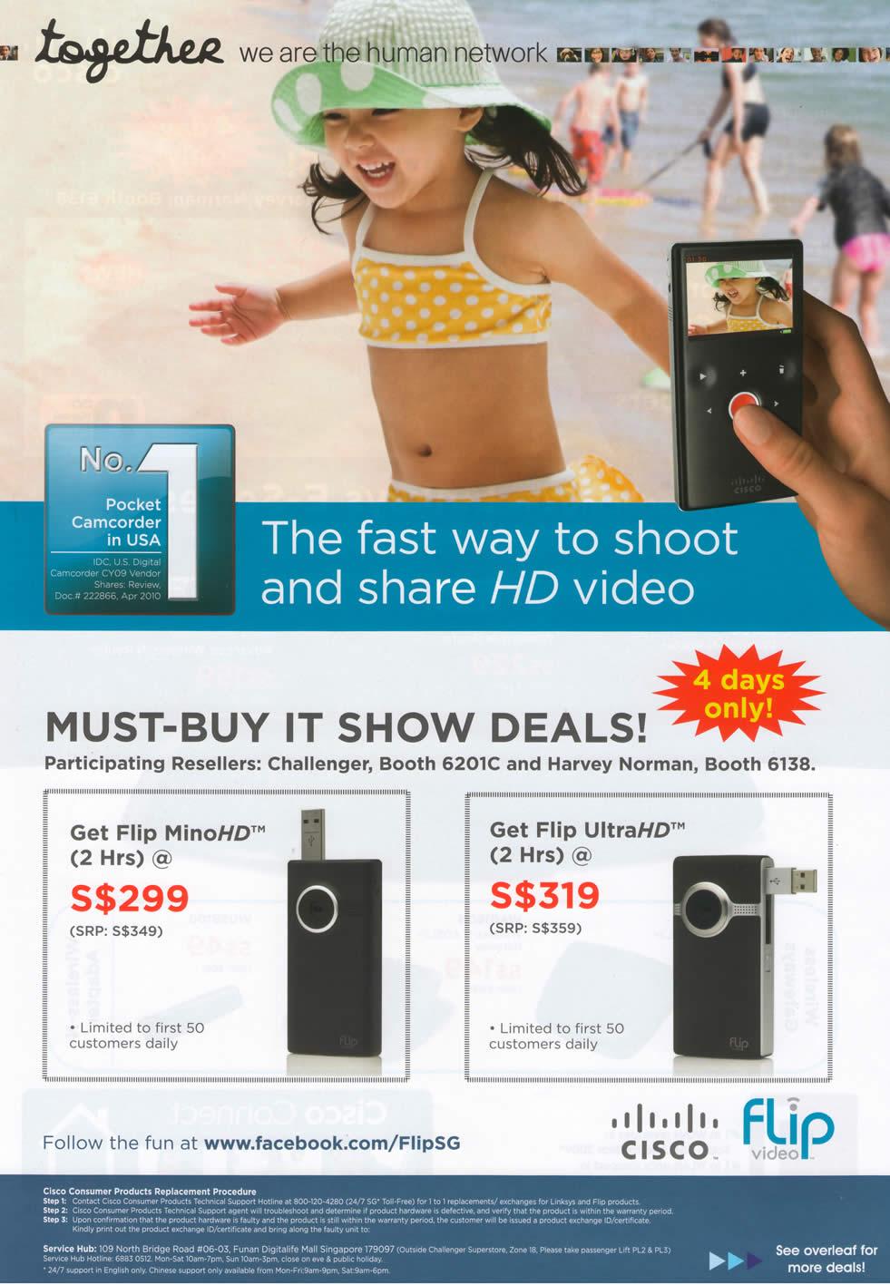 IT Show 2011 price list image brochure of Cisco Flip MinoHD UltraHD Challenger Harvey Norman