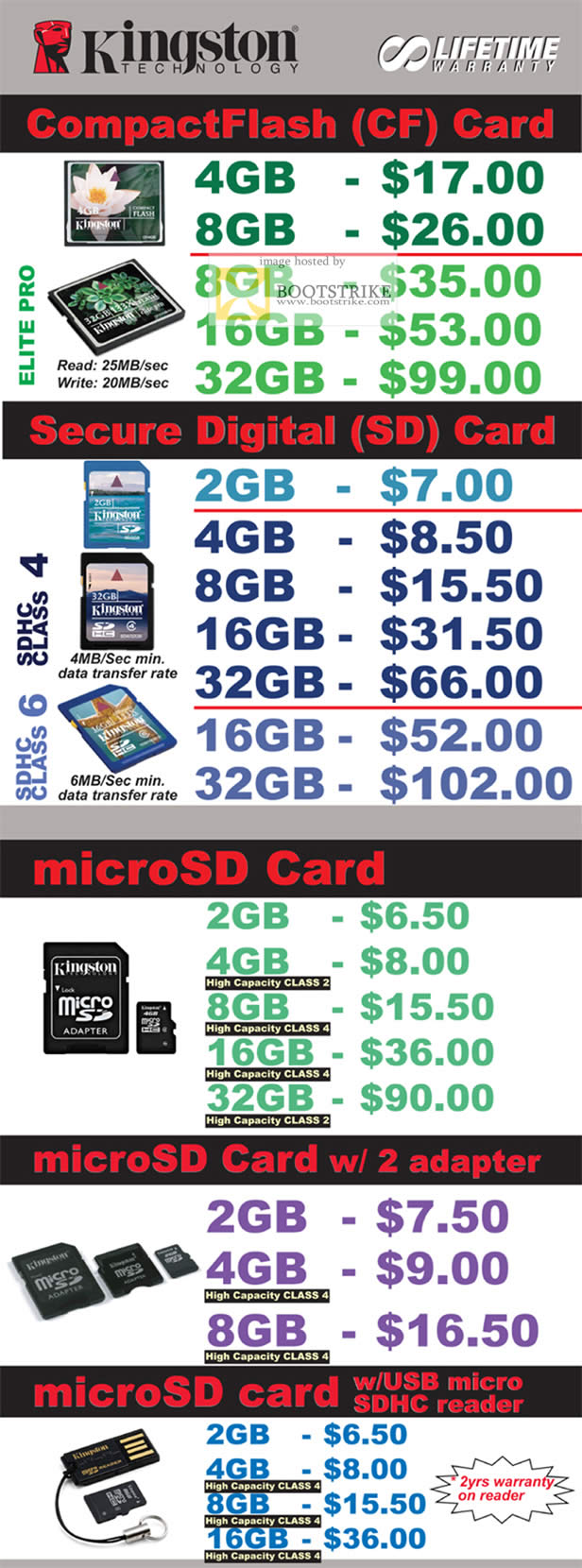 IT Show 2011 price list image brochure of Convergent Flash Memory CompactFlash CF Secure Digital SD MicroSD Adapter Card SDHC Reader