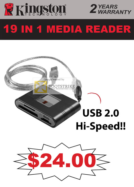IT Show 2011 price list image brochure of Convergent Kingston 19 In 1 Media Card Reader USB