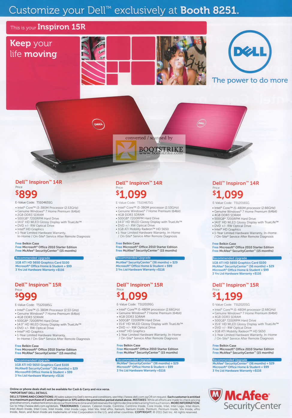 IT Show 2011 price list image brochure of Dell Notebooks Inspiron 14R 15R