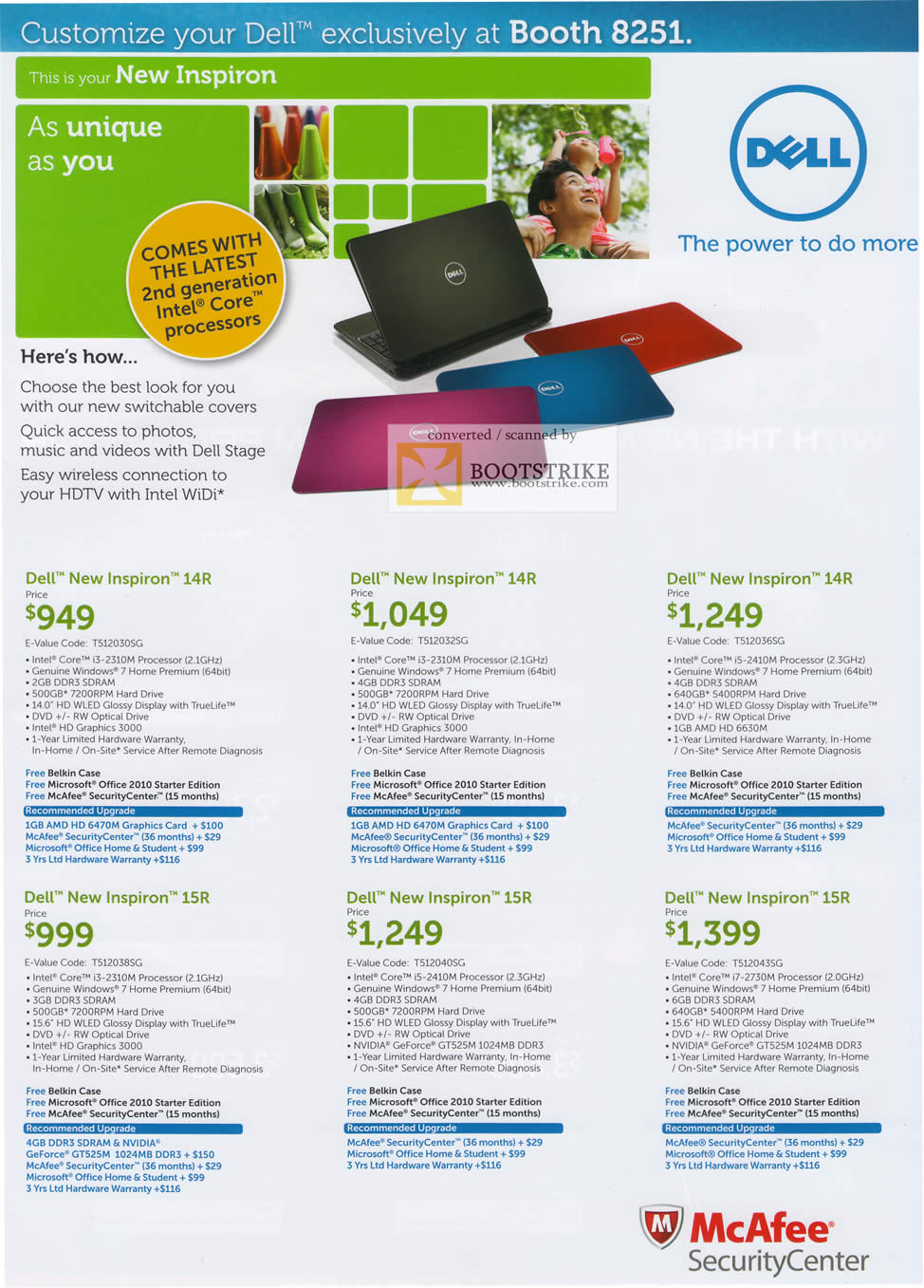 IT Show 2011 price list image brochure of Dell Notebooks New Inspiron 14R 15R