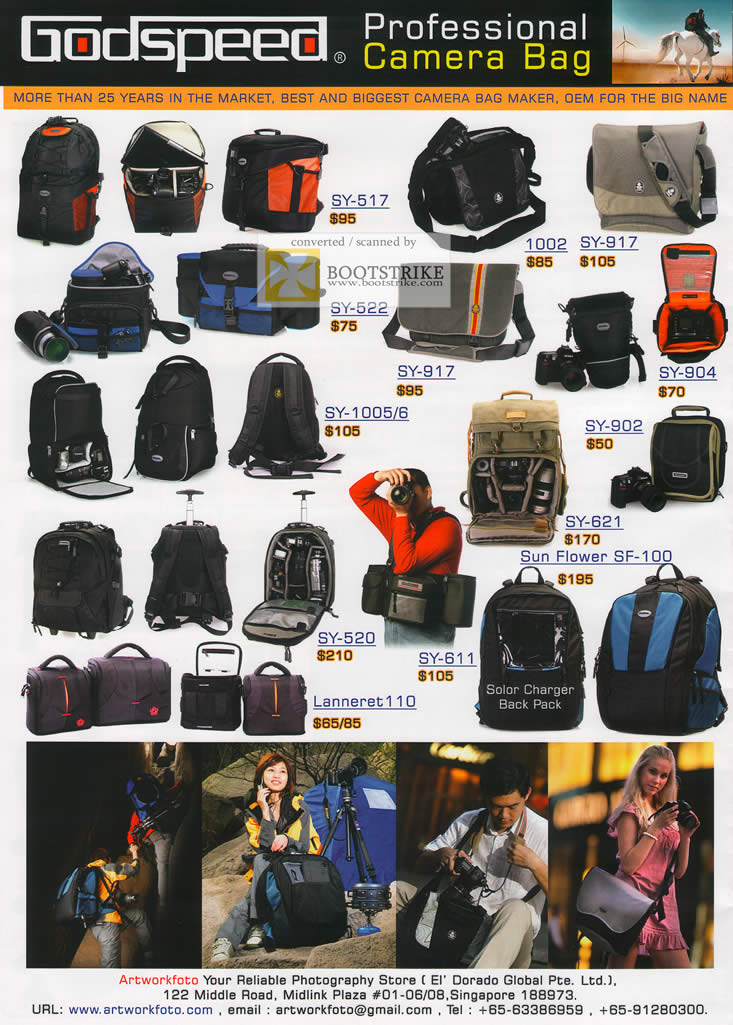 El Dorado Credit Card >> EL Dorado Godspeed Professional Camera Bags SY Sun Flower Lanneret IT SHOW 2011 Price List ...