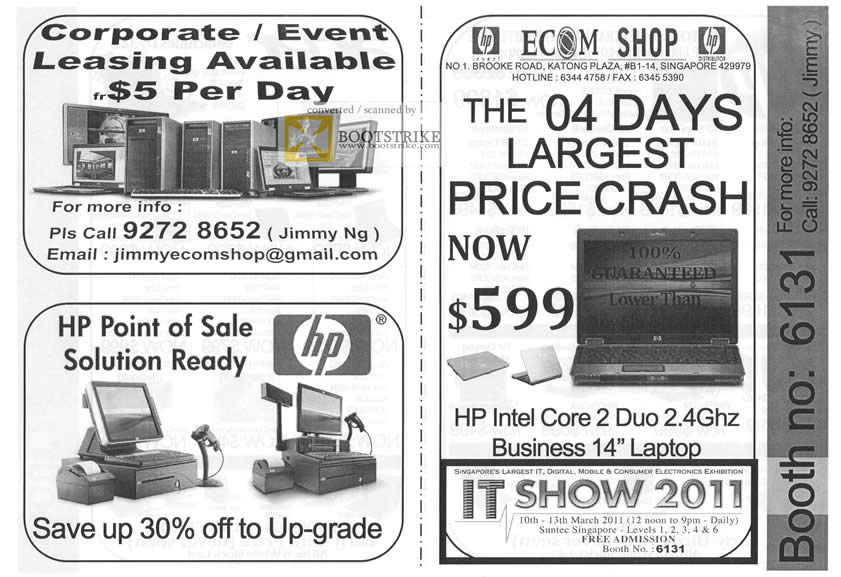 IT Show 2011 price list image brochure of Ecom HP Point Of Sale HP Business Notebook