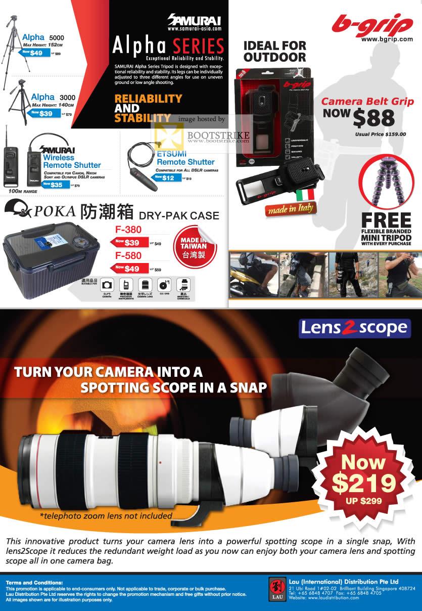 IT Show 2011 price list image brochure of Lau Intl Samurai Alpha 5000 B Grip Len2Scope