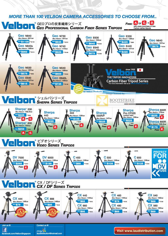IT Show 2011 price list image brochure of Lau Intl Velbon Geo N840 N540 Sherpa 600R Pro CF535 Video DV 7000 CX DF CX444 CX440