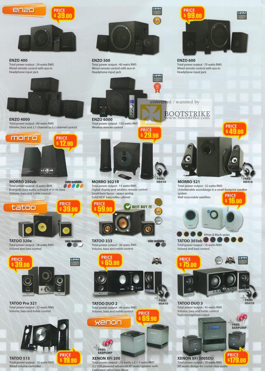 IT Show 2011 price list image brochure of Leapfrog Sonicgear Enzo 400 500 600 4000 6000 Morro 250xb 3021R 521 Tatoo 320e 333 303xb Pro 321 Duo 2 3 515 XenonXfi 200 300SDU