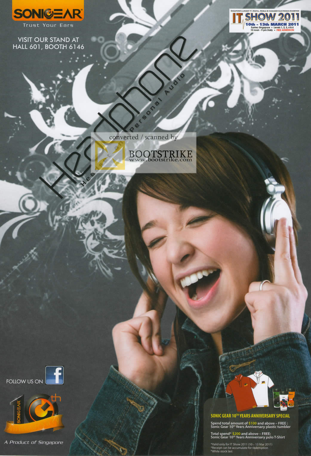IT Show 2011 price list image brochure of Leapfrog Sonicgear Headphone And Personal Audio