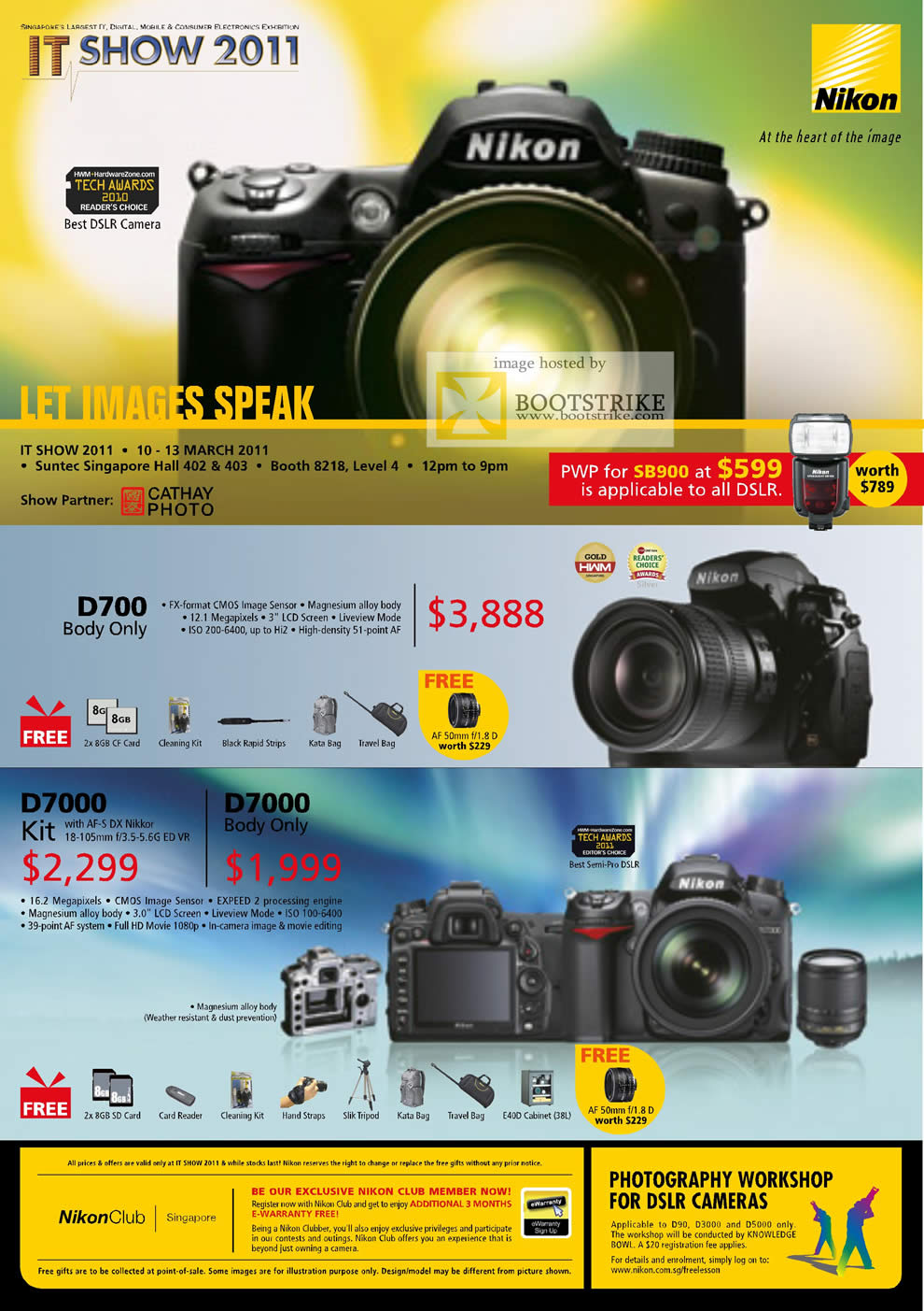 IT Show 2011 price list image brochure of Nikon Digital Cameras DSLR D700 D7000 Body