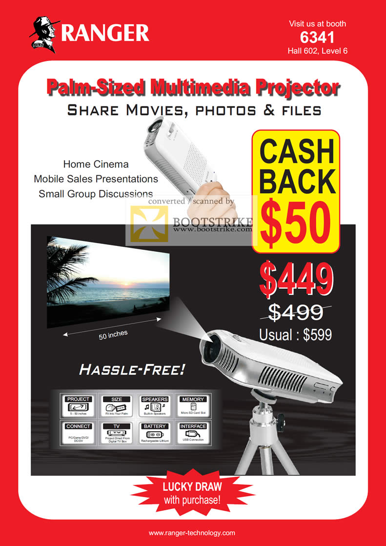 IT Show 2011 price list image brochure of Ranger Multimedia Projector Palm Sized
