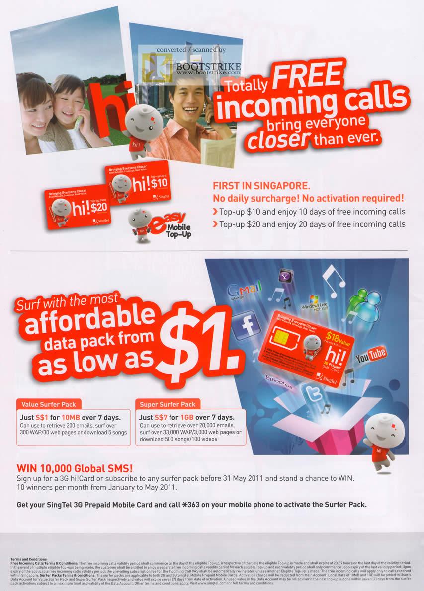 how to cancel prepaid card singtel