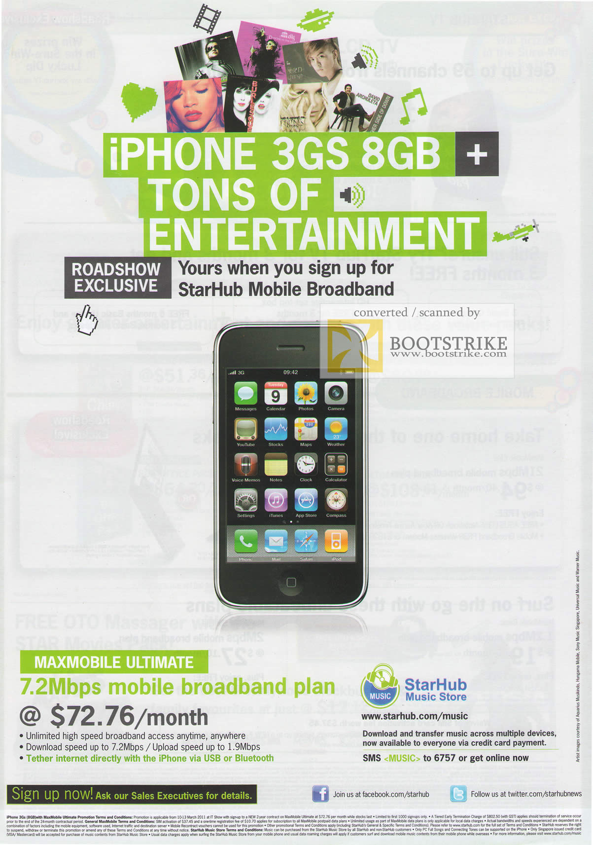 IT Show 2011 price list image brochure of Starhub Maxmobile Ultimate Iphone 3GS 8GB