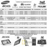 Tablets Samsung Galaxy Tab Archos 70 101 Huawei IDEOS S7 U8150 Model Prolink TW8 Viewsonic Viewpad 7 10 10s