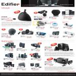 Edifier Speakers IPod IF600 MP300 Plus E20 E3100 E1100 I-F200 I-F330i Luna 5 I-F500 Signature 7 USB M1360 M1380 M1335 M3300SF