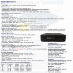 Iraku S200 HD DVR Specifications Media Player