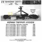 Benro Tripod A150 A200 A250 A300 A350 A500 A550 A600 A650 Ball Head BH-D Tripod Bag