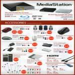 MediaStation Blu Ray Writer BR-PX68UW BK-AP DVSM Accessories Mouse Optical LED Laser HDMI Cable Cat 6 LAN Earphone Case