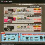 Digital Cameras Exilim EX-S200 EX-Z800 EX-Z2000