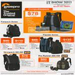 Lowepro Bags CoupuDaypack Fastpack 200 250 Flipside 200 400 AW Versapack Pro Runner