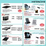 Hitachi External Storage X-Mobile Drive Lifestudio Mobile Plus XL SimpleTough USB3 Desk Plus