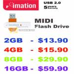 Convergent Imation MIDI Flash Drive USB