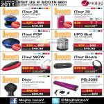 ITour Mobile Speaker 20 30 POP UPO Bud WOW Boom Divo Synaps PB-2200 Battery