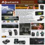 Aputure Photographic Equipments Gigtube Wireless Trigmaster Yongnuo Pixel Wireless Sekonic Flash Meter