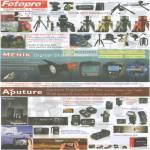 Fotopro Tripods Menik Flash M5 Mini Dual Flash Arm Aputure Trigmaster Plus Pixel