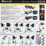 Menik Digital Studio Flash SW400 Colorful Touch Screen CM300 Deluxe Pro Set Cheerful