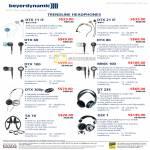 Epicenter Beyerdynamic Headphones DTX 11 IE 21 60 80 100 MMX 100 DTX 300p DT 235 SX 10 DJX 1