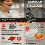 Edimax IPCam IC-7010PTn 3G-6218n N150 3G Portable Router BR-6258n N150 Wireless