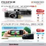 Digital Cameras Finepix X100 Real 3D W3 Harvey Norman