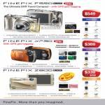Finepix F550 EXR XP30 GPS Z800 Harvey Norman