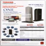 Toshiba Dynadock Universal Docking Station U V