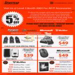 5 Percent Off Accessories Trek Flash Energizer XP2001 AP1200 Microsoft Mobile Mouse 4000 Mcafee Antivirus Internet Security Symantec Norton