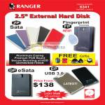External Storage Drive Sata FP Fingerprint QP ESata EP Toshiba