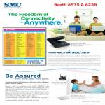 SMC Networks SMCWPBR-3G Wireless 3G Router SMCWIPCAM-PZ IP Camera IPCam SMCWBR14S-N4