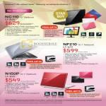 Notebooks Netbook NC110 NF210 N150P