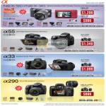 Alpha Digital Cameras DSLR NEX-5D NEX-3D A55 A33 A290
