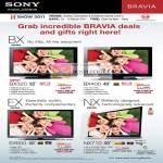 Bravia TV BX BX320 BX400 EX EX600 NX NX710 Edge LED